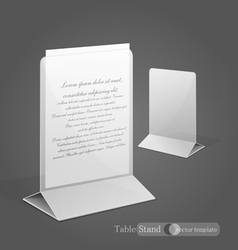 Stand for advertising paper vector