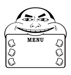 beer lover menu vector image