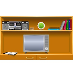 Cabinet household items vector