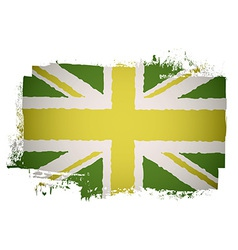 Green british flag vector