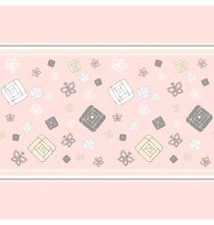 Geometric roses seamless pattern vector