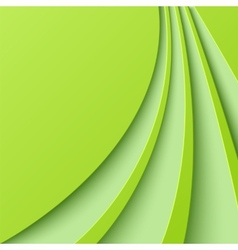 Abstract green background with curved lines vector image vector image