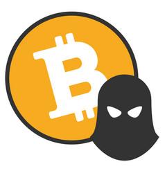 Bitcoin spy flat icon vector