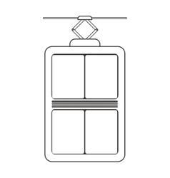 Elevator device icon vector