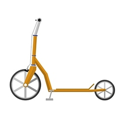 Flat of electrical scooter vector image