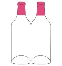Flyer poster template - wine bottles vector