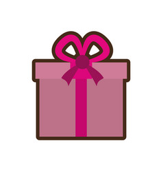gift box present isolated icon vector image vector image