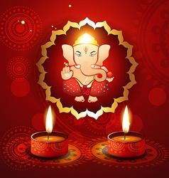 Hindu lord ganesh vector