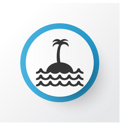 Island icon symbol premium quality isolated reef vector