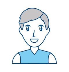 Man smiling profile vector
