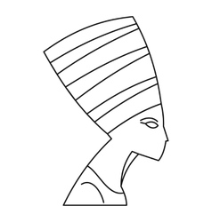 Nefertiti icon outline style vector image vector image