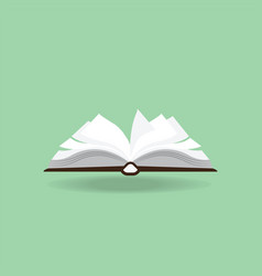 open book isolated on background vector image