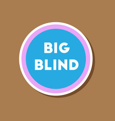 paper sticker on stylish background poker big vector image