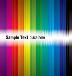 rainbow sample vector image vector image
