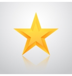 Realistic Isolated Gold Star with Reflection vector image vector image
