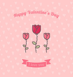 Rose flowers on pink backdrop vector