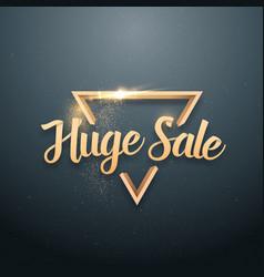 Sale banner sticker template vector