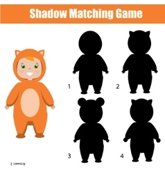 Shadow matching game christmas theme kids vector