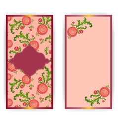 vertical greeting card with flowers vector image vector image