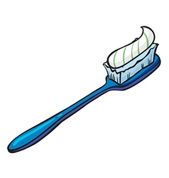 Blue toothbrush vector