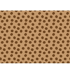 Pattern with coffee grains vector