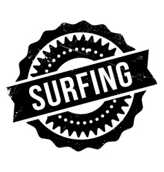 Surfing stamp rubber grunge vector
