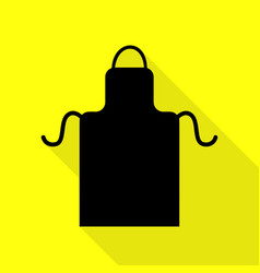 Apron simple sign black icon with flat style vector