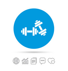 Dumbbells sign icon fitness sport symbol vector