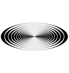 Concentric circle oval resonance waves vector