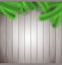 Fir tree branches rustic christmas layout vector