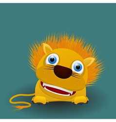 Cute baby lion vector