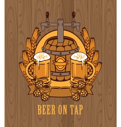 Barrel of beer vector