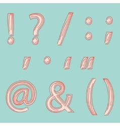 Punctuation vector image