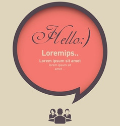 Hello speech bubble with business icon vector