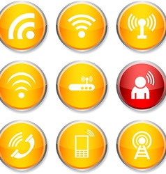 Communication round icons vector