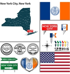 New york city new york set vector