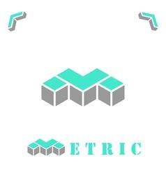 M letter logo concept vector image