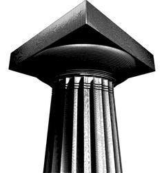 Halftone etch effect greek archaic doric column vector