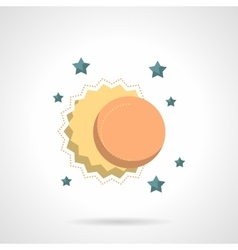 Celestial bodies flat color design icon vector