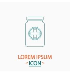 Medicine bottle computer symbol vector