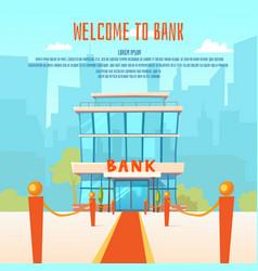A modern bank vector