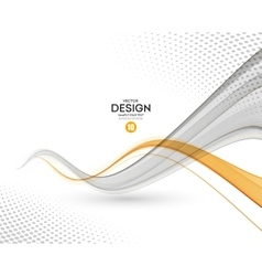 Abstract background gray and orange wavy vector