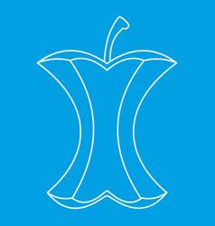 Apple stump icon outline style vector