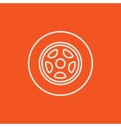 Car wheel line icon vector image vector image
