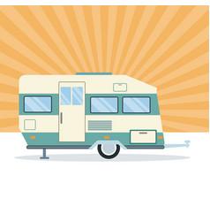 caravan trailer vehicle vector image vector image