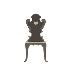 chair flat icon isolated furniture interior vector image vector image