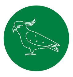 Cockatoo parrot icon in thin line style vector