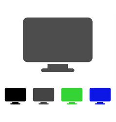 Desktop flat icon vector
