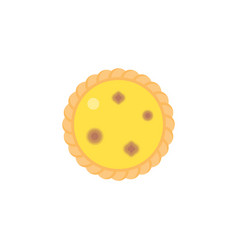 Dim sum dessert egg tart in top view vector