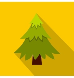Fir tree icon flat style vector